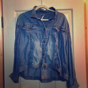 Free People Denim Chambry Top/Jacket